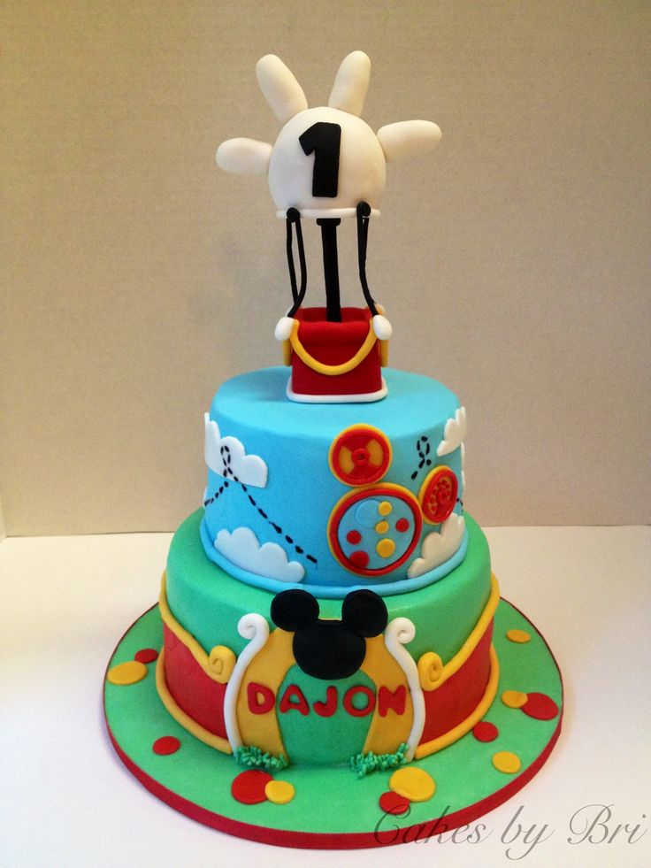 Images Of Mickey Mouse Clubhouse Birthday Cakes : Mickey Mouse clubhouse birthday cake Baby Pinterest
