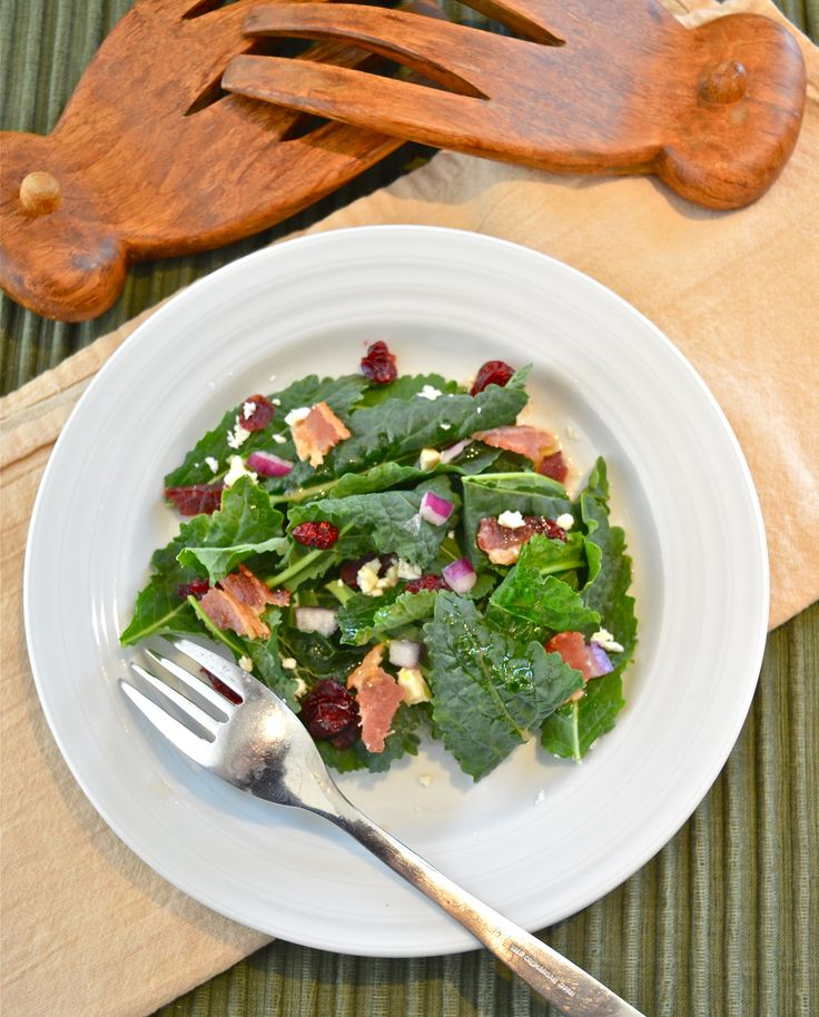 kale and smoked bacon salad with zinfandel vinaigrette kale and smoked ...