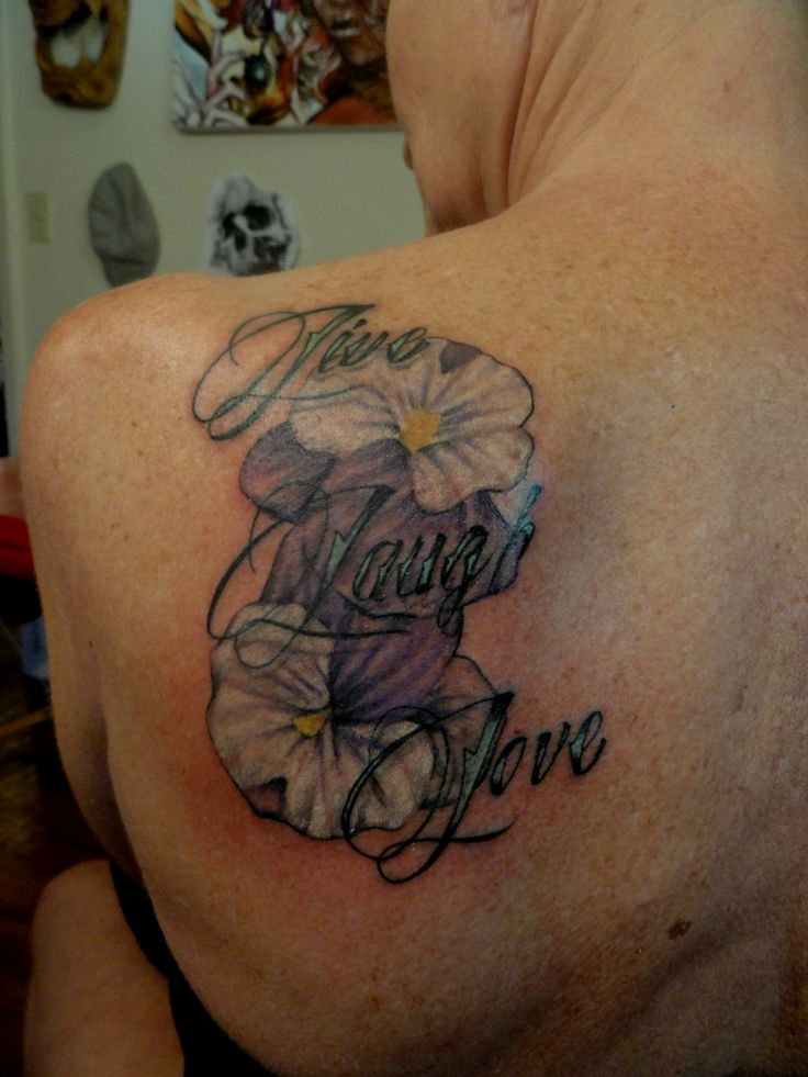 Live laugh love tattoo. | Tattoos I have done. | Pinterest