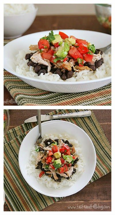 Slow Cooker Pork Burrito Bowls from Taste and Tell; this sounds ...