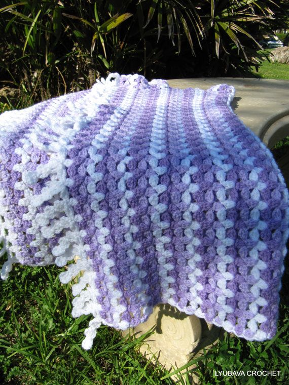 Different Crochet Patterns For Baby Blankets : Crochet PATTERN - Baby Blanket Crochet Pattern - Lilac ...