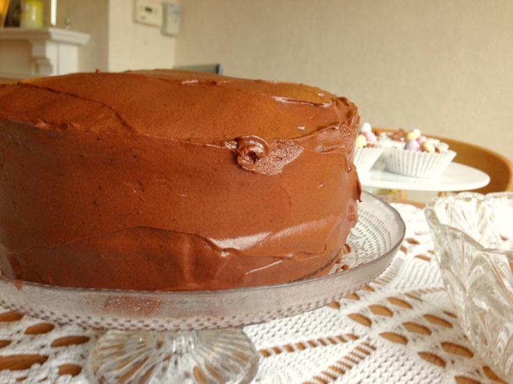 Chocolate Fudge Cake with Chocolate Espresso Cloud Frosting