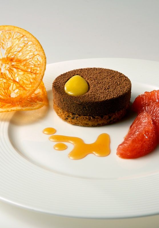 chocolate dessert with candied orange | A look at later | Pinterest