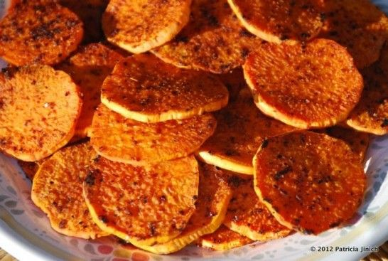 Sweet Potato Rounds with a Punch : Pati's Mexican Table