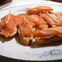 Smoked Salmon and Goat Cheese Toasts by Simply Recipes