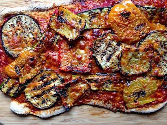 Homemade Grilled Vegetable PIzza | JamieMendell.Com | Pinterest