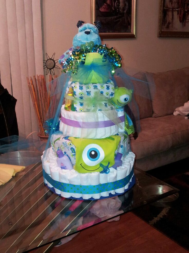 monsters inc themed cakes for the little monster myles diaper