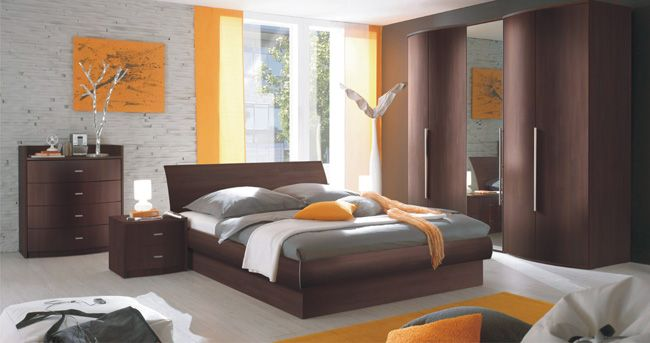 Orange And Grey Bedroom Home Sweet Home Pinterest