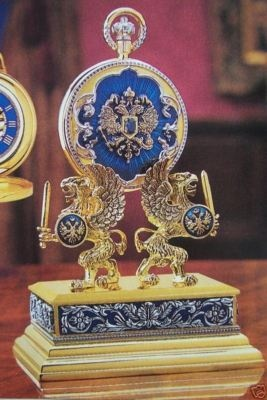 NIB FABERGE Imperial WATCH + Stand Romanov Swords & Griffins + COA