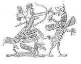 34 - ASHAKKU. Demonio que originaba la fiebre y enfermedades de tipo consuntivo, Babilonia. (Mesopotamia).
