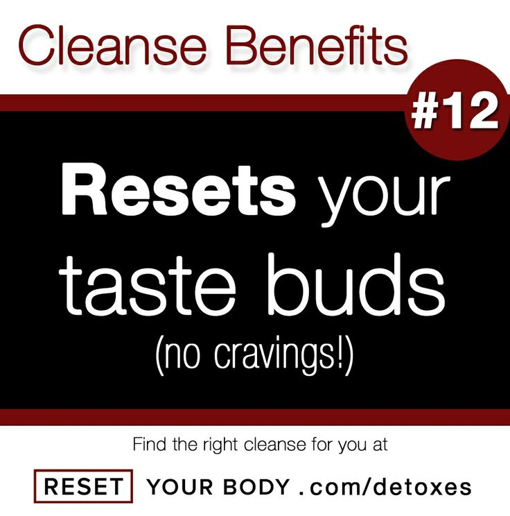 After a detox your taste buds will no longer need over stimulation ...