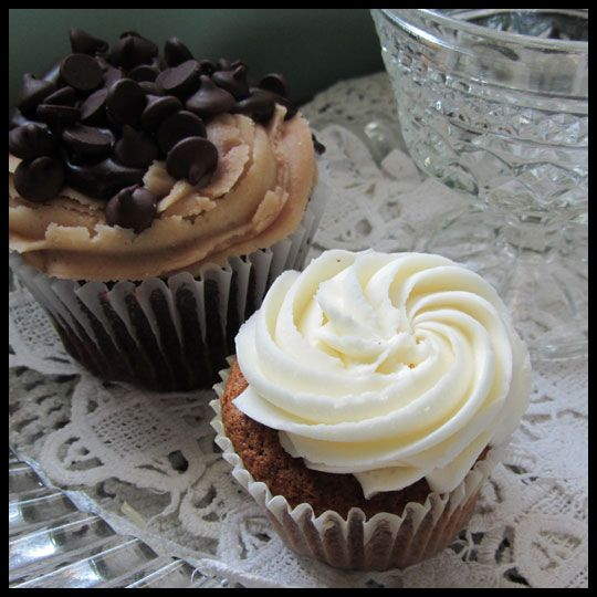 sized Chocolate Peanut Butter cupcake with chocolate ganache filling ...