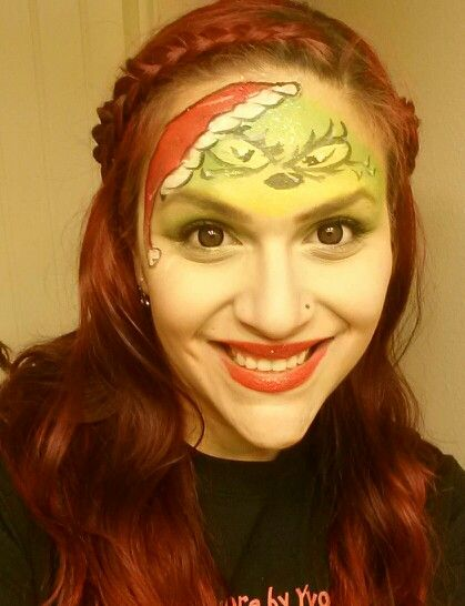 Grinch face paint face painting fun pinterest