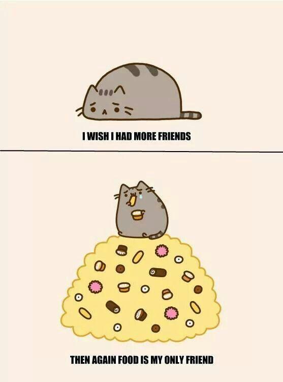 Pusheen wants friends | Random cuteness | Pinterest: pinterest.com/pin/100205160433642080