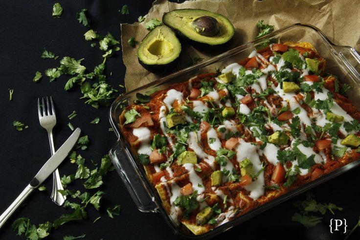 Spicy Spinach and Mushroom Enchiladas | Vegan Recipes | Pinterest