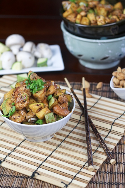 Zucchini, Mushroom and Cashew Chicken | Recipe