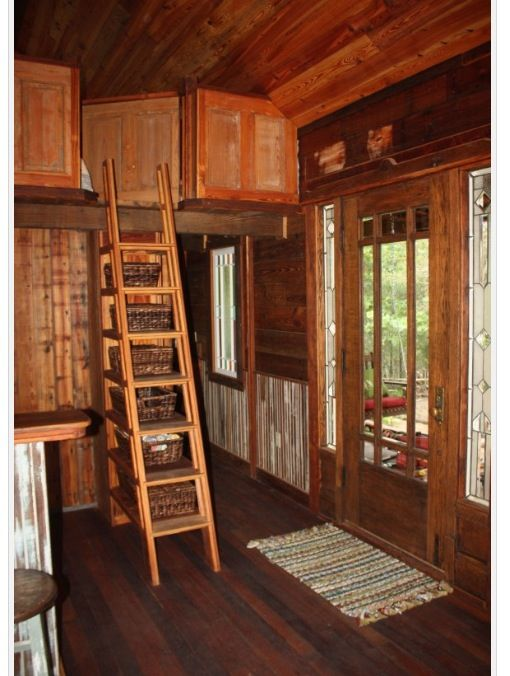 Ladder to loft | Ideas for the cabin | Pinterest