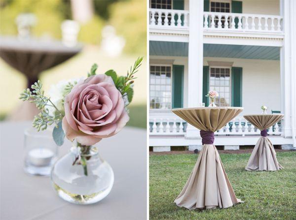 Single stem flower centerpiece wedding flowers