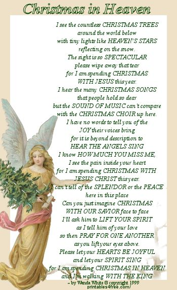 It's just an image of Monster Christmas in Heaven Poem Printable