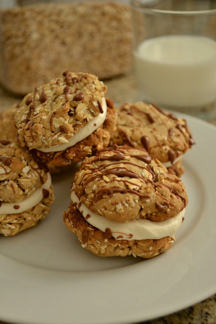 Oatmeal Cream Pies | Over the top desserts | Pinterest