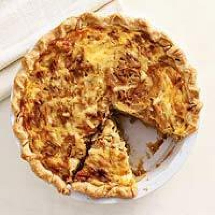 Caramelized Onion Quiche-Family Circle | Breakfast Ideas | Pinterest