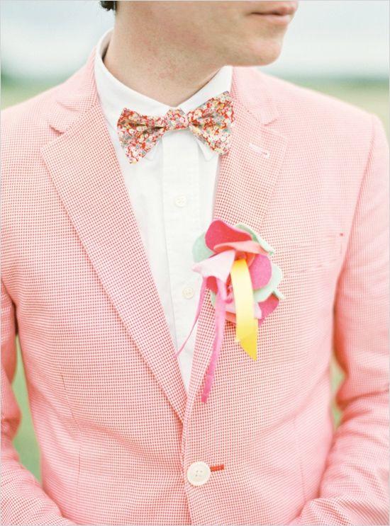 colorful groom ideas