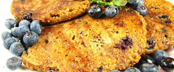 Whole Grain Blueberry Pancakes | Vegan Food And Treats | Pinterest