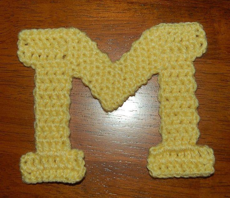 Crochet block m jean pinterest