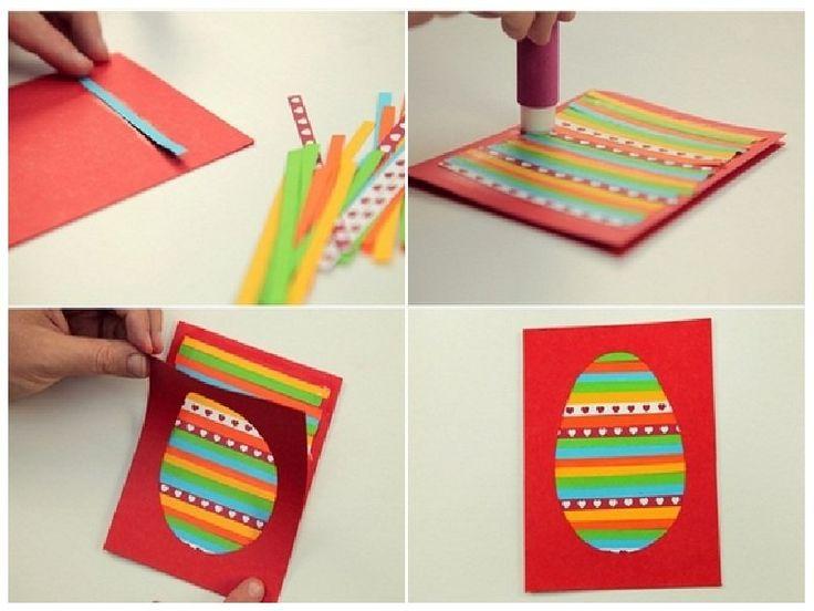 Открытка для детей из бумаги своими руками