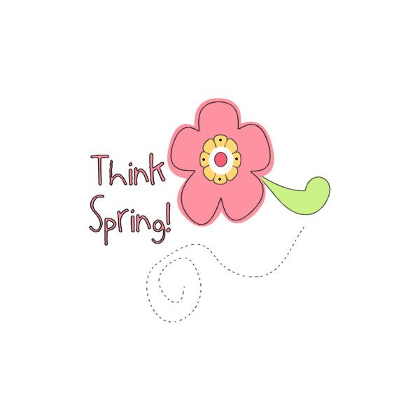 Think Spring Clip Art found on Polyvore