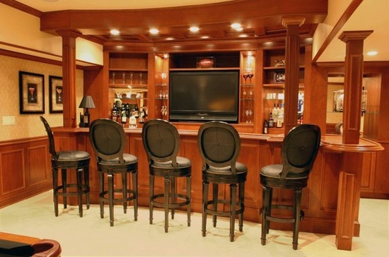 custom basement bar my home ideas pinterest