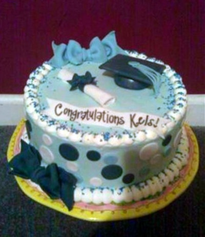 Simple Cake Designs For Graduation : simple graduation cake