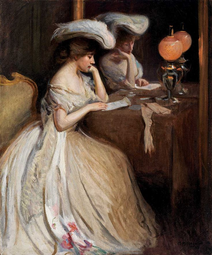 The Letter, 1903, Arthur M. Hazard. American (1872–1930)