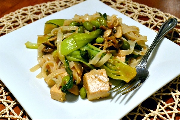 -fry on Monday night with tofu, mushrooms, edamame and baby bok choy ...