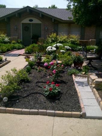 My grassless garden yard outdoor living pinterest for Grassless garden designs