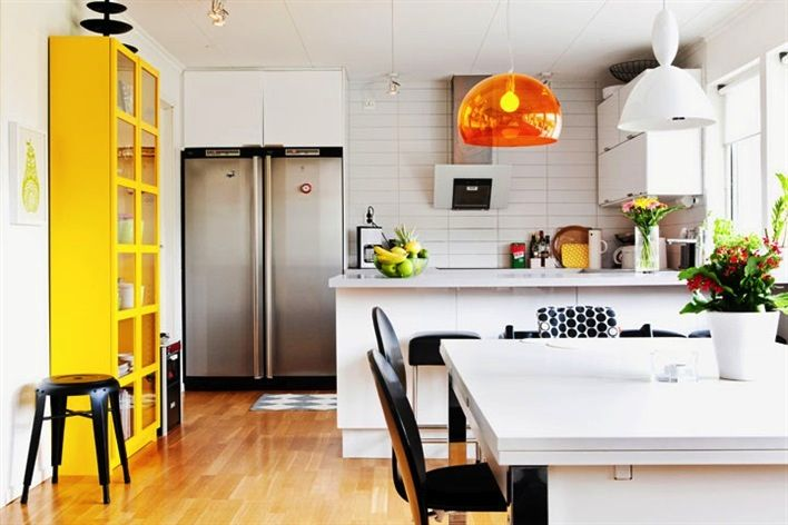 black white and yellow kitchen mi casa su casa pinterest
