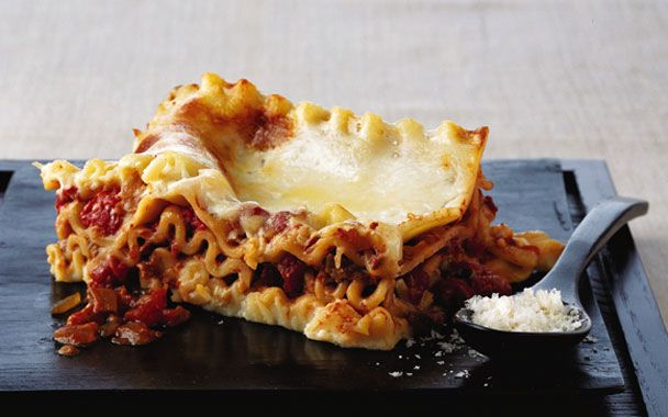 Wild Mushroom Lasagne Earthy porcinis with tart tomatoes in a creamy ...