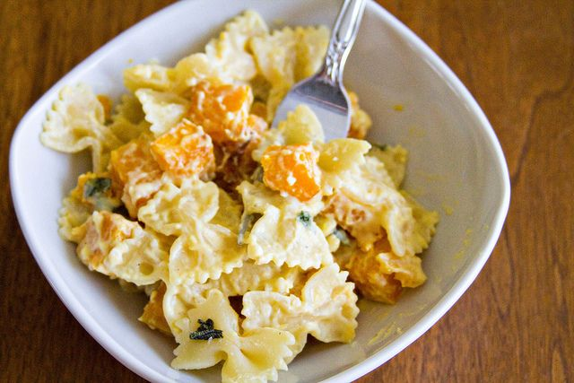Farfalle with Butternut Squash and Roasted Pumpkin Sauce - 7 by ...