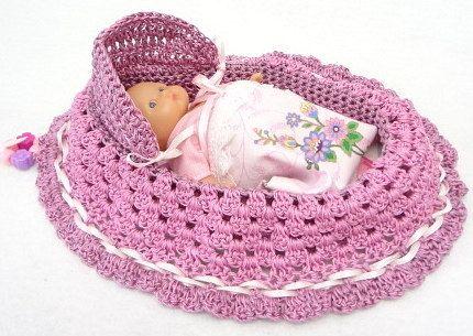 Peter Rabbit Amigurumi Pattern : Lovely Easter Basket cradle purse baby doll crochet church ...