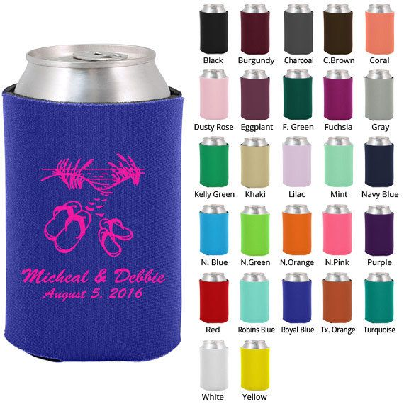 Personalized Koozies Clipart 1184 Beach Setting