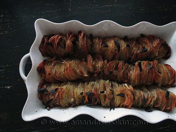 Crispy Roasted Potatoes with Shallots and Garlic Butter