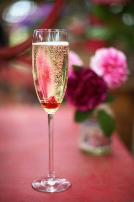 Rose syrup Prosecco -(just ordered rose syrup from Amazon! yeah!)