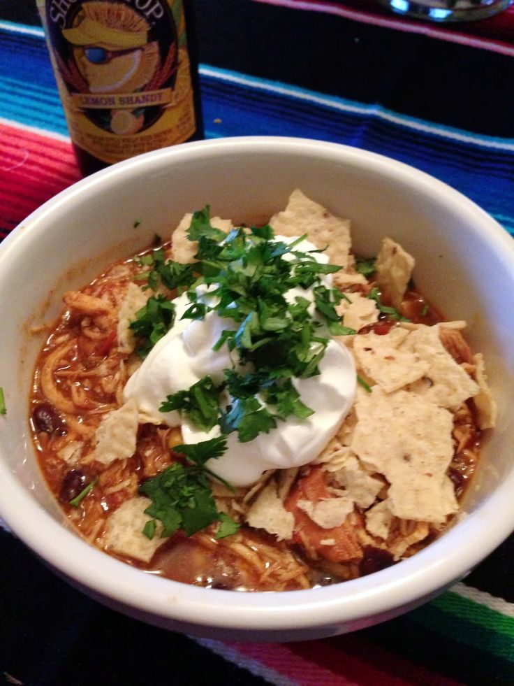 Slow cooker chicken taco chili | Foooooood | Pinterest