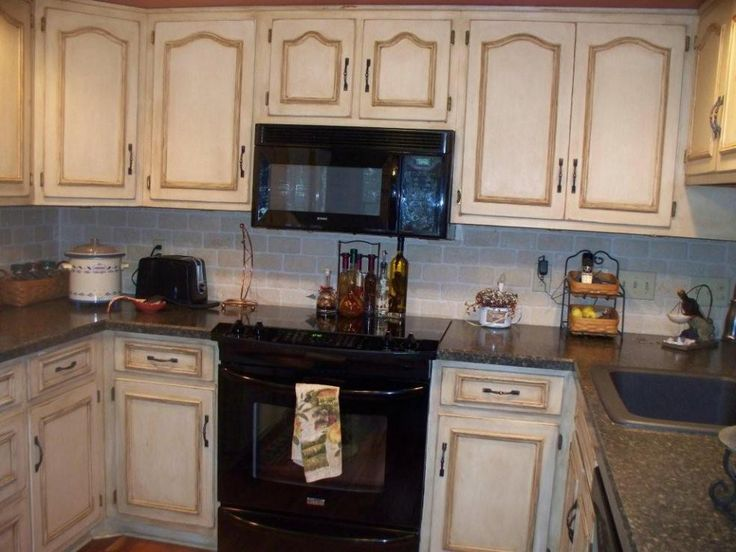 distressed kitchen cabinets home pinterest
