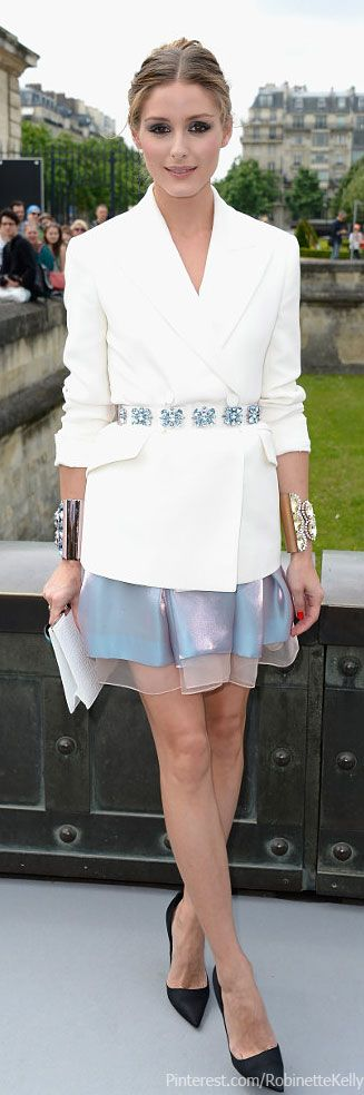 Street Style, Olivia Palermo | Christian Dior Haute Couture Fashion Show
