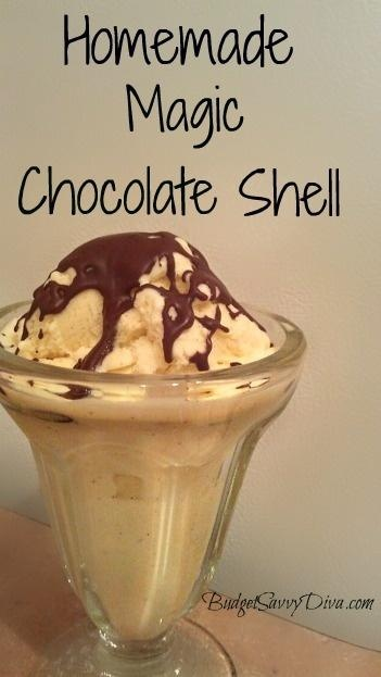 Homemade Chocolate Magic Shell Recipe | copy cat recipes | Pinterest