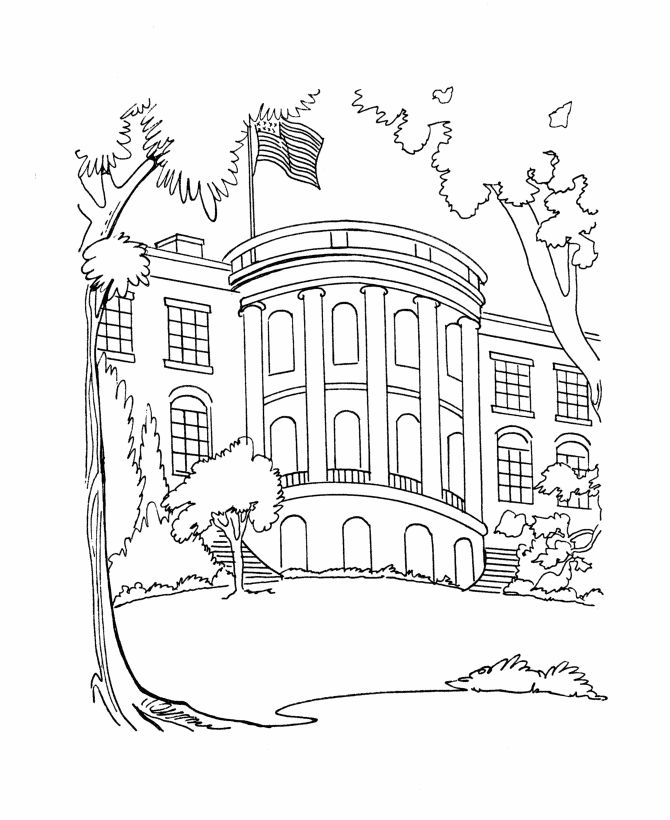 The White House coloring pages Social Stu s