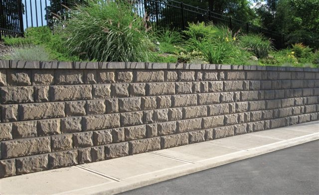 Retaining Wall Block With Pins : The newest allan block retaining wall manufactured by atlas