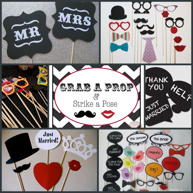 Photo Booth Prop Ideas: Photo Booth Prop Inspiration!