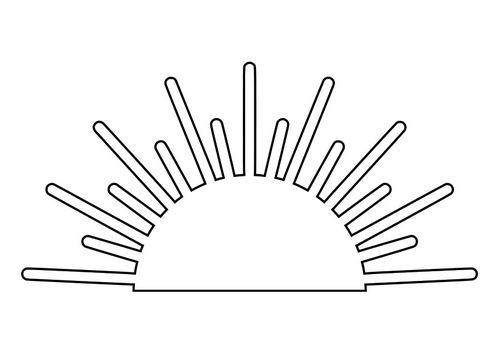 sunrise coloring pages - photo#2